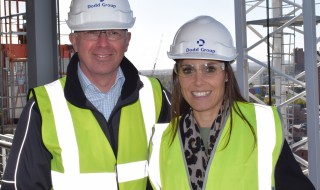 Nicola and Regional Director Adrian Cobb on site this week
